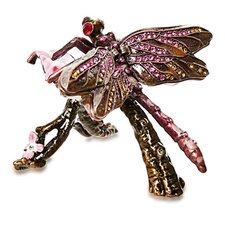 Vanity Dragonfly Crystal Box