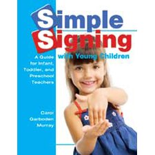 Simple Signing with Young Children Book