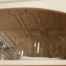 Triple Wall Mount Wine Glass Rack