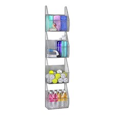 "11"" x 53"" 4 Basket Vertical Storage Rack"