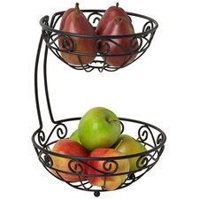 Scroll Arched 2-Tier Fruit Bowl