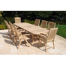 9 Piece Dining Set without Cushion