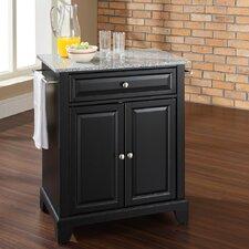 Newport Kitchen Cart with Granite Top