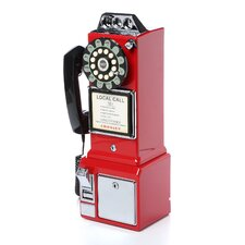 1950's Classic Red Pay Phone
