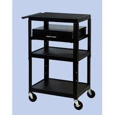 Wide Body Adjustable Equipment TV Cart