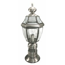 "1 Light 8"" Outdoor Post Lantern with Motion Sensor"