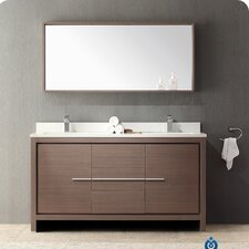 "Allier 60"" Double Modern Bathroom Vanity Set with Mirror"
