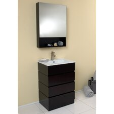 "Stella 24"" Single Amato Modern Bathroom Vanity Set"