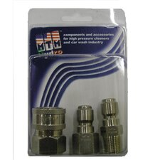 "3/8"" 6300 PSI Stainless Steel Coupler and Plug Pack"