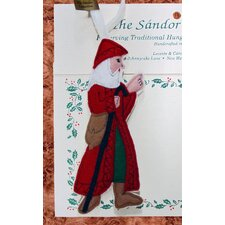 Christmas Memories Father Christmas with Walking Stick Tree Ornament