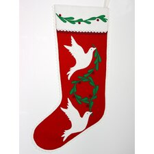 Dove of Peace Christmas Stocking