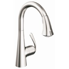 Ladylux3 Single Handle Single Hole Standard Kitchen Faucet with Dual Spray Pull Down