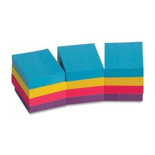 "Adhesive Notes,Plain,1-1/2""x2"",100 Sheets per Pad,12 Pads per Pack,Extreme (Set of 2)"