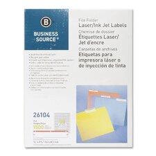 Label, File Folder, Laser/Inkjet, 1500 per Pack, Red