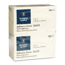 Adhesive Notes, 100 Sheets per Pad, 12 per Pack, Yellow