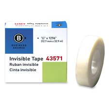 """Transparent Tape, Refill, 1"""" Core, 1/2""""x1296"""", Clear (Set of 6)"""