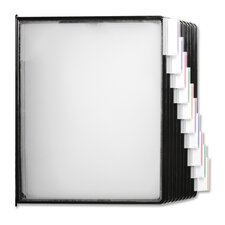 Replacements Panels, f/ Basic/Deluxe Catalog Racks, Clear/Black