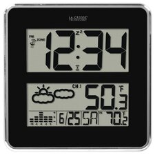 Atomic Digital Wall Clock with Forecast and Weather