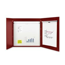 2-door Conference Enclosed Magnetic Whiteboard, 4' x 4'