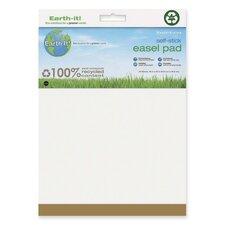 """Earth It! Self-stick Easel Pad, Plain, 25""""x30"""", 30 Sh/PD, 2/PK, White"""