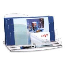 Desk Accessories, Letter Sorter, Crystal/Ice Black