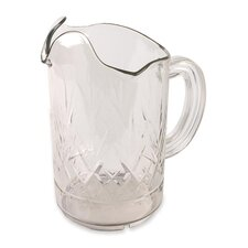 Tri-Pour Pitcher,60 oz,Chip/Scratch/Break Resistant,Clear