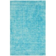 Antique Hand-Woven Turquoise Area Rug