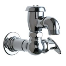 Manual Wall Mounted Service Sink Faucet with Vacuum Breaker Spout and Tee Handle