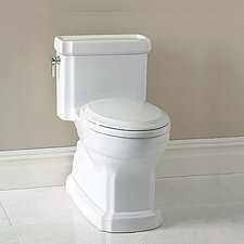 Guinevere ADA Compliant 1.28 GPF Elongated 1 Piece Toilet with SanaGloss Glazing
