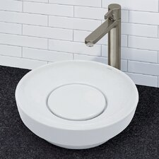 Matt Muenster Exclusive Collection Vitreous China Above Counter or Semi-Recessed Round Lavatory