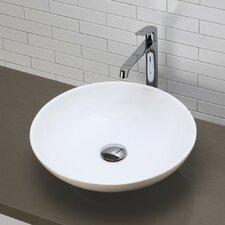 Classically Redefined Round Vessel Bathroom Sink