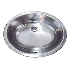 Simply Stainless Drop-In/Undermount Bathroom Sink with Overflow