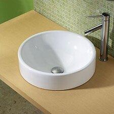 Classically Redefined Round Ceramic Vessel Bathroom Sink