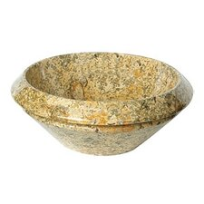 A Perfect Chisel Round Vessel Bathroom Sink