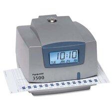 "Document/Time Recorder, Prints AM/PM, 5-1/2""x4""x6"", White"