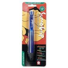 Mechanical Pencil, w/ Pocket Clip, .5mm, Clear Blue