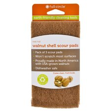 Walnut Shell Scour Pads (Set of 18)