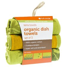 Morning Bloom Organic Cotton Dish Towel (Set of 18)