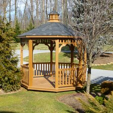 Lawn & Garden Synthetic Wood Gazebo