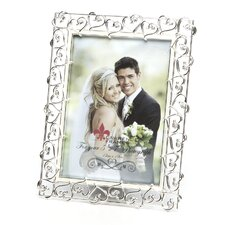 Crystals and Ivory Enamel Metal Picture Frame