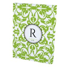 Damask in Green Personalized Canvas Graphic Art