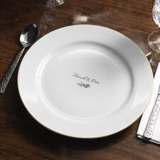"Personalized Dianthus 12.25"" Dinner Plate"