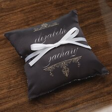 Personalized Alchemy Ring Satin Throw Pillow