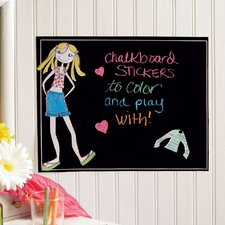 Ruby Dress-Up Chalkboard Wall Decal
