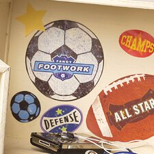 Sports Stamps Wall Decal (Set of 4)