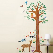 Woodland Growth Chart Interactive Wall Mural