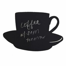 Cup and Saucer Chalkboard Murral