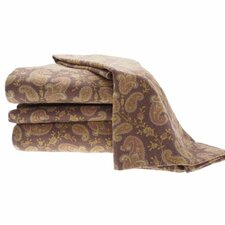 Heather Ground Flannel Paisley Cotton Sheet Set