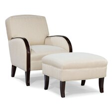 Abe Transitional Chair and Ottoman