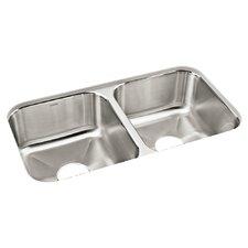 "Carthage 32"" x 18"" Double Bowl Kitchen Sink"